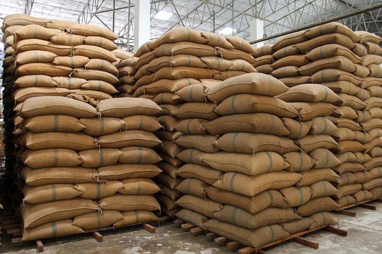 Ilustrasi persediaan beras.