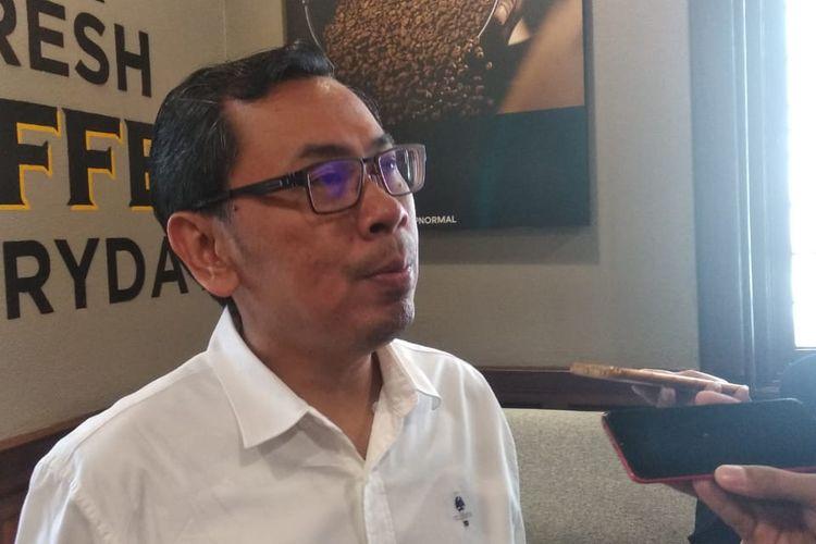 Direktur Center for Indonesia Taxation Analysis Yustinus Prastowo dalam wawancara bersama awak media di Jakarta, Selasa (1/10/2019).