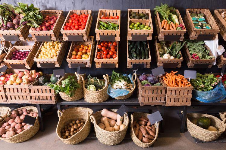 ilustrasi sayur dan buah, jenis produk nabati yang halal menurut LPPOM MUI.