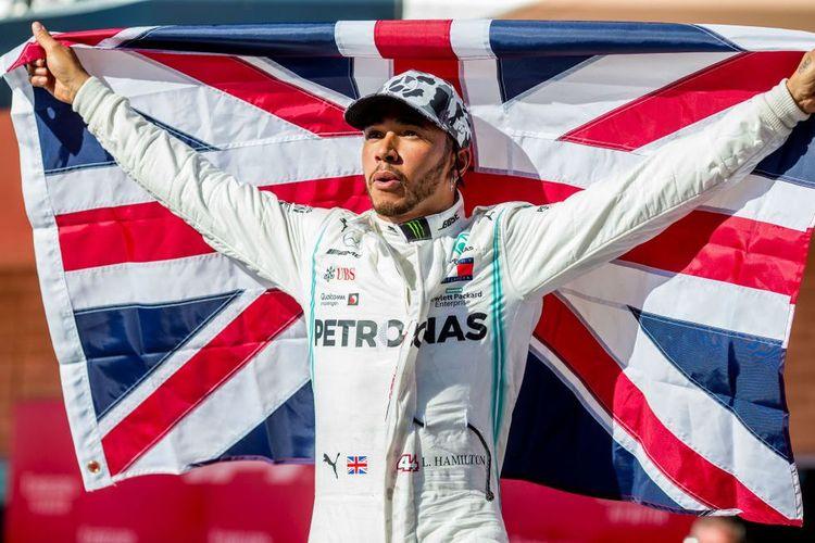 Pembalap Formula 1 Lewis Hamilton.
