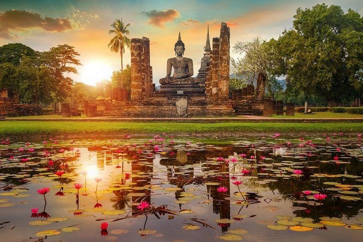 Candi Wat Mahathat, Thailand.