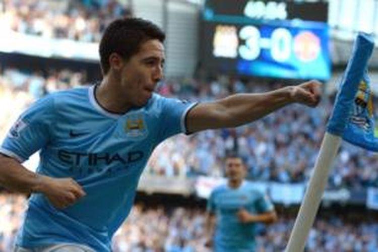 Gelandang Manchester City, Samir Nasri.