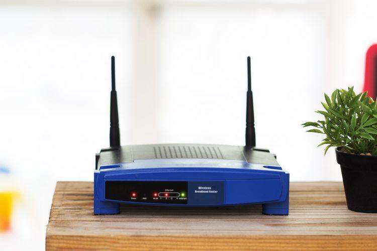 Ilustrasi router wifi.