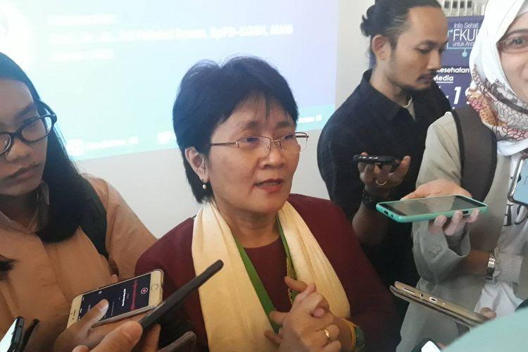 Pengajar Fakultas Kedokteran Universitas Indonesia (UI) Dewi Sumaryani Soemarko di Gedung FK UI, Jakarta Pusat, Kamis (5/3/2020).