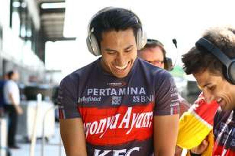 Sean Gelael dan Mitch Evans di Sepang, Malaysia.