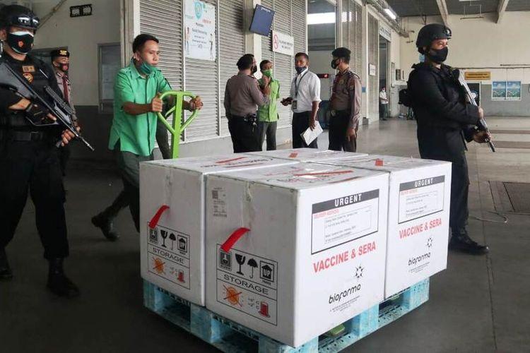 Pemerintah Provinsi Sumatera Utara kembali menerima vaksin Covid-19 sebanyak 23.772 vial atau 237.720 dosis, Kamis (25/2/2021)