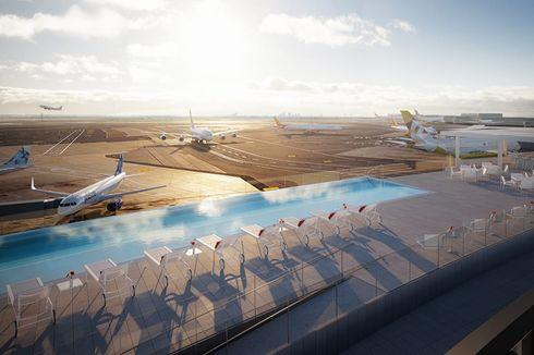 15 Mei, Pengunjung Bisa Berenang di Samping Landasan Pacu Bandara JFK
