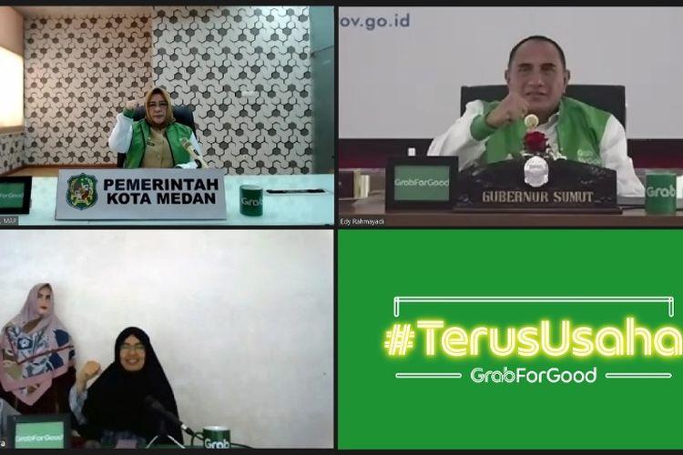 Peluncuran program #TerusUsaha di Medan, Sumatra Utara yang diinisasi oleh Grab Indonesia, Selasa (11/8/2020).