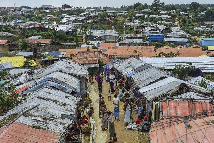 Kamp pengungsian warga Rohingya di Kutupalong, Ukhia, Bangladesh.