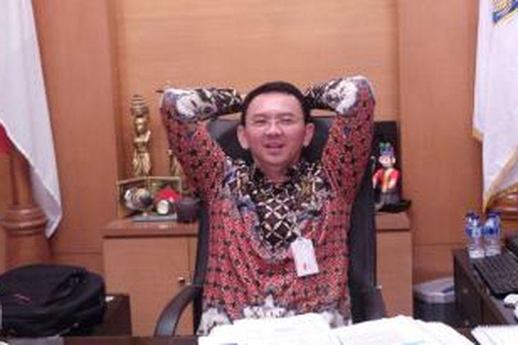 Gubernur DKI Jakarta Basuki Tjahaja Purnama, di Balai Kota, Jumat (10/4/2015).
