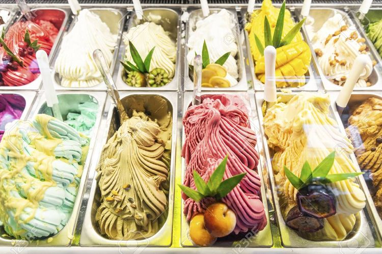Ilustrasi gelato.