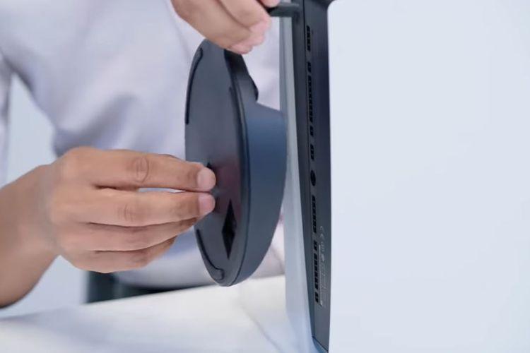 Ilustrasi komponen lingkaran yang harus dicopot terlebih dahulu sebelum membongkar PS5.