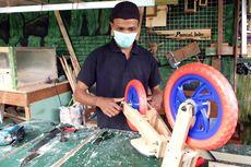 Jam Kerja Dikurangi karena Pandemi, Nugroho Sukses Usaha Push Bike dari Kayu