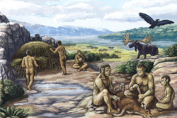 Ilustrasi kehidupan pada Zaman Kuarter
