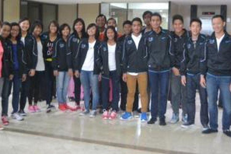 Tim renang Indonesia ke kejuaraan Asian School Swimming Championships di Macau, China, 31 Oktober-7 November.
