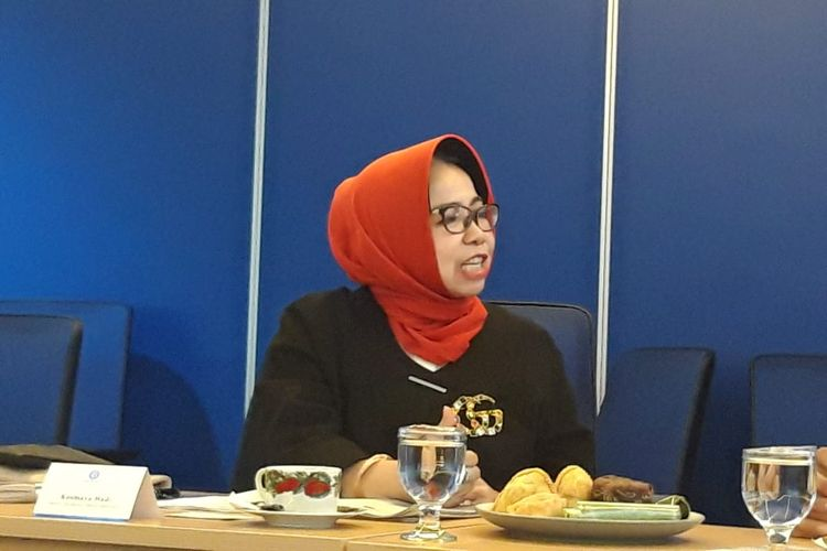 Deputi Gubernur Bank Indonesia (BI) Rosmaya Hadi saat berkunjung ke redaksi Kompas.com di Menara Kompas, Jakarta, Rabu (31/7/2019).