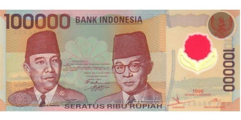 Pecahan uang 100.000 pada tahun 1999