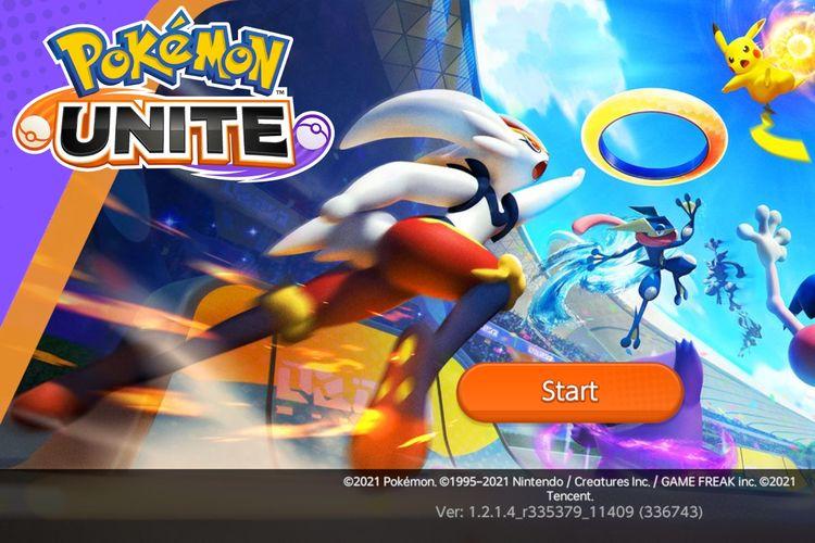Ilustrasi loading screen Pokemon Unite.