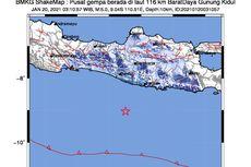 Gempa Hari Ini: 2 Lindu M 5,0 Guncang Gunungkidul dan Pacitan