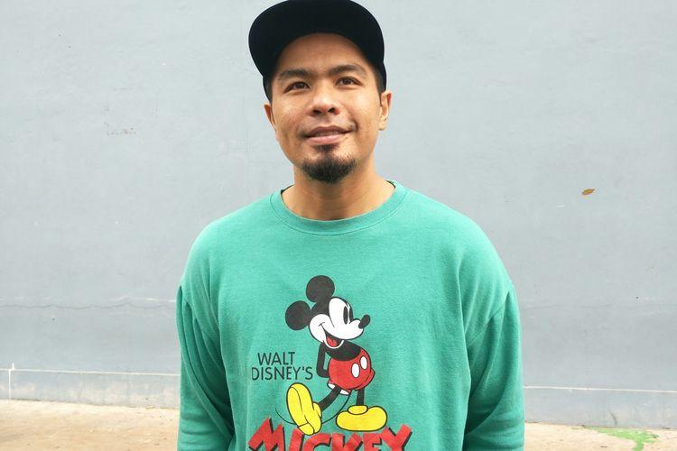 Bams mantan vokalis band Samsons saat ditemui di kawasan Tendean Jakarta Selatan, Jumat (31/1/2020)