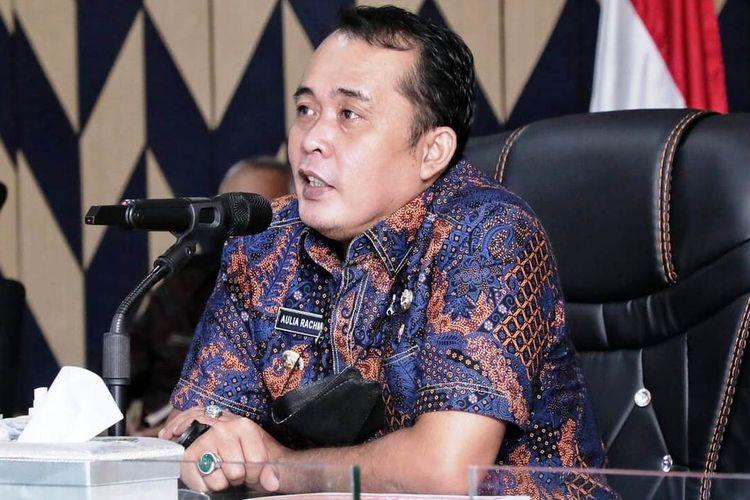Wakil Wali Kota Medan Aulia Rachman melakukan rapat koordinasi virtual dengan BPK2L Semarang untuk pengelolaan dan pembentukan BPK2L Kesawan, Kamis (29/4/2021)