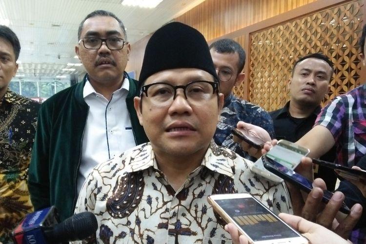 Ketua Umum Partai Kebangkitan Bangsa (PKB) Muhaimin Iskandar di Kompleks Parlemen, Senayan, Jakarta, Jumat (30/8/2019).