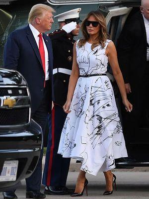 Melania Trump ketika menghadiri perayaan Hari Kemerdekaan AS, Jumat (3/7/2020).