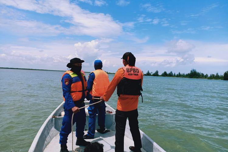 Tim gabungan patroli laut di perairan Kabupaten Aceh Timur, Rabu (21/10/2020)
