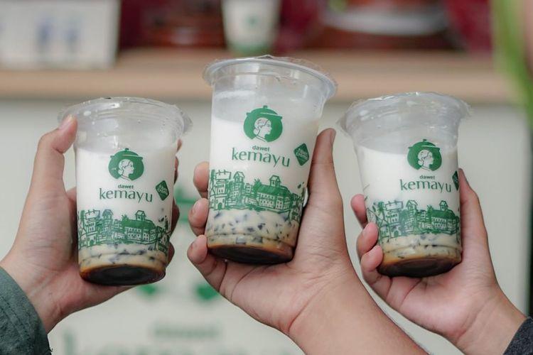 Dawet Kemayu kemasan cup, ukuran medium dan large