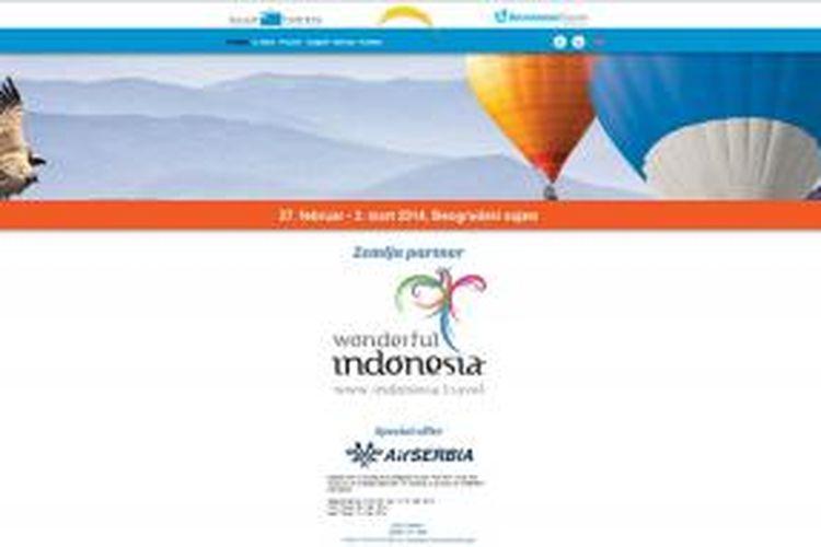 Belgrade International Fair of Tourism 2014, di Serbia, berlangsung pada 27 Februari 2014 sampai 2 Maret 2014. Indonesia menjadi negara partner pameran wisata di Eropa ini. Booth pameran Indonesia dikemas berupa kapal pinisi, dengan mempromosikan lokasi-lokasi wisata di Indonesia, selain di Pulau Bali.