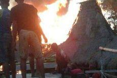 22 Rumah di Kampung Adat Sumba Barat Hangus Terbakar