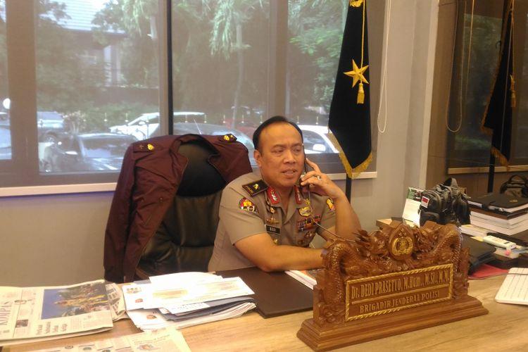 Kepala Biro Penerangan Masyarakat Humas Brigjen (pol) Dedi Prasetyo di Gedung Humas Mabes Polri, Jakarta, Rabu (20/2/2019).