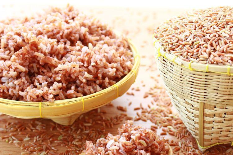 Ilustrasi beras merah.
