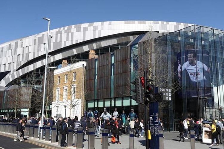 Stadion baru milik Tottenham Hotspur di London yang resmi digunakan, Minggu (24/3/2019).