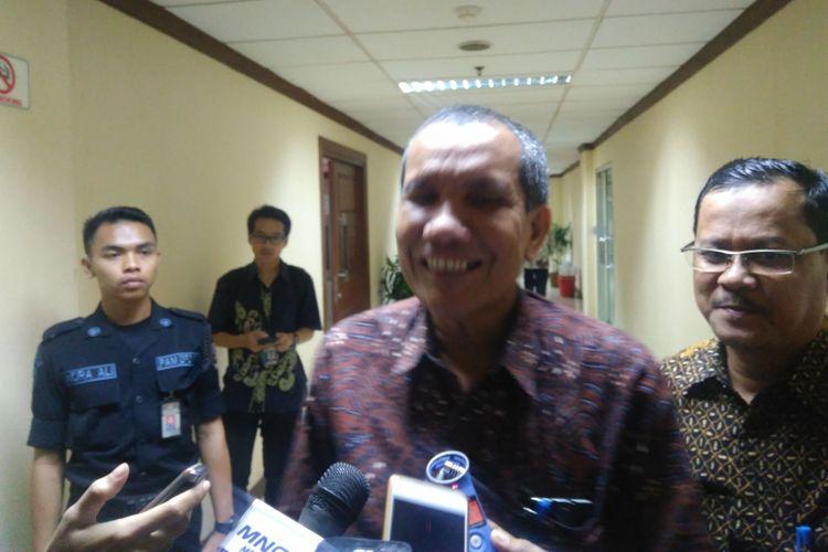 Deputi Bidang Pencegahan Komisi Pemberantasan Korupsi (KPK) Pahala Nainggolan di Gedung DPD RI, Jakarta, Selasa (5/9/2017).