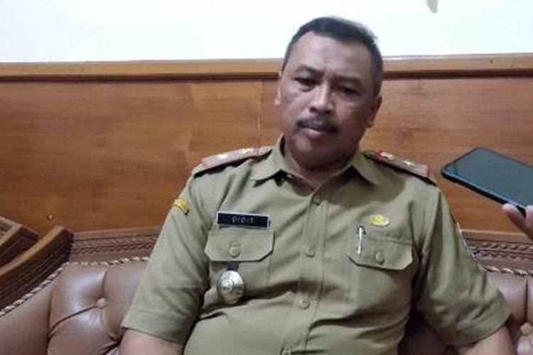 Kepala Badan Kepegawaian dan Diklat (BKD) Kabupaten Garut, Didit Fajar Putradi saat diwawancara, Selasa (29/10/2019) di kantor BKD Garut.