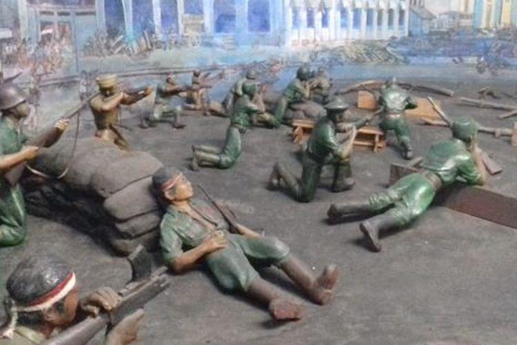 Diorama pertempuran di Surabaya yang berada di Museum Satria Mandala Jakarta, (9/01/2020)