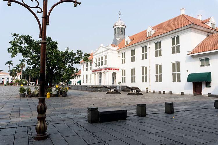 Ilustrasi spot foto di kawasan Kota Tua Jakarta.