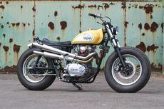 Yamaha XS650 Bobber dengan Sisipan Trail dan Scrambler
