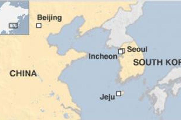 Peta Korea Selatan.