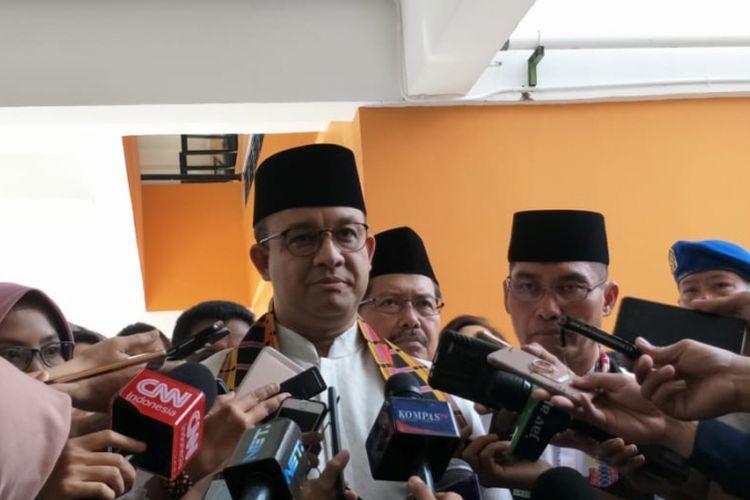 Gubernur DKI Jakarta Anies Baswedan di Pondok Labu, Jakarta Selatan, Jumat (8/3/2019).