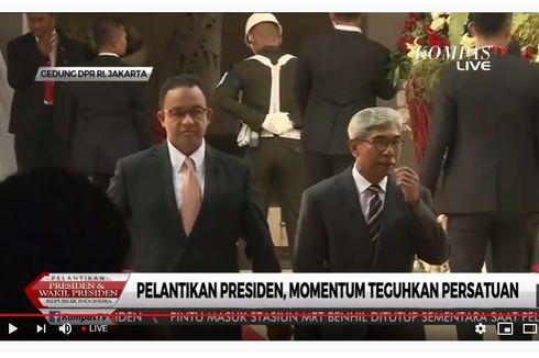 Gubernur Anies Hadiri Pelantikan Jokowi-Ma'ruf