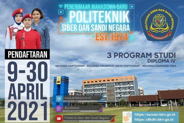 Politeknik SSN buka pendaftaran untuk mahasiswa baru tahun 2021.
