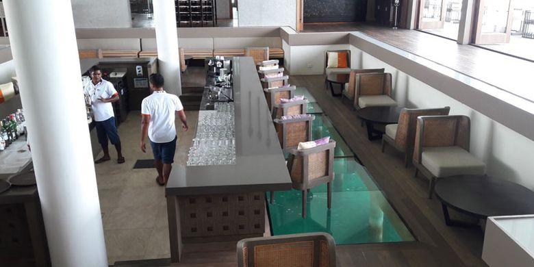 Restoran di Club Med Finolhu Villas Maladewa, Minggu (16/7/2017).