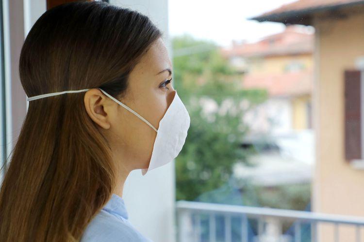 Iustrasi isolasi diri, pasien virus corona