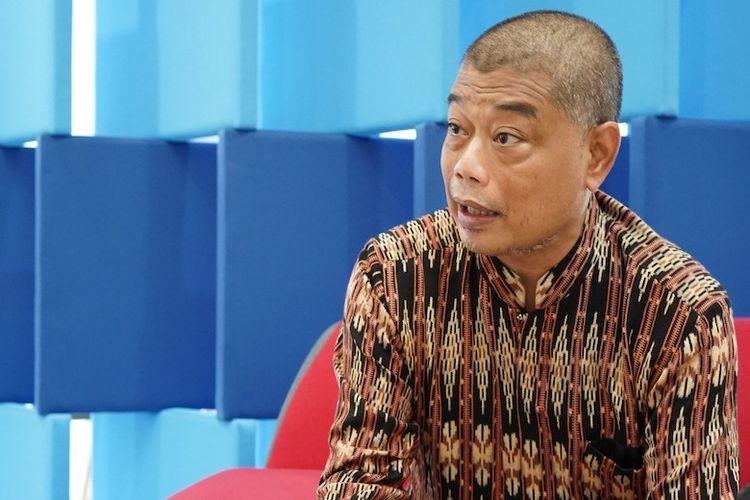Staff Khusus Dewan Pengarah BPIP, Romo Benny Susetyo di Gedung Kompas (Dok. KOMPAS/EKA PANGESTU TANDIO)