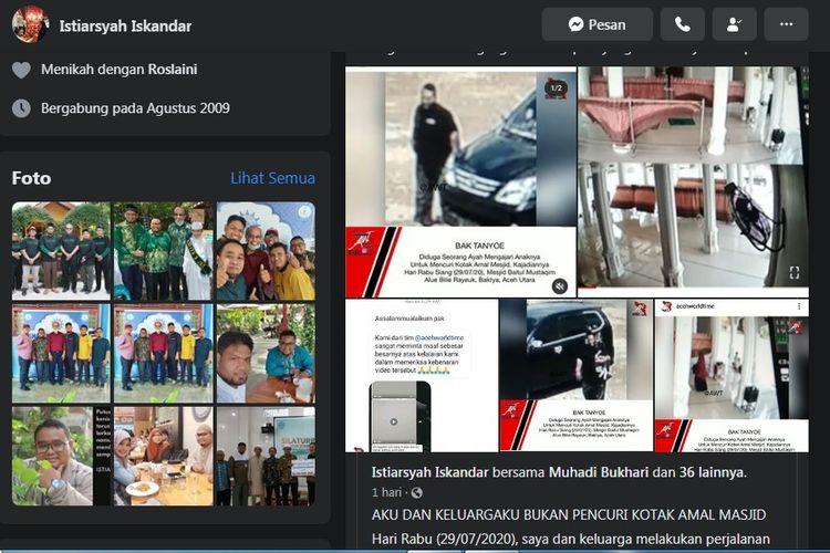 Capture media sosial Istiarsyah