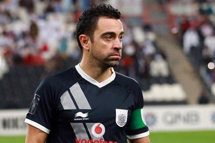 Xavi Hernandez tampil memperkuat Al Saad dalam laga Liga Champions Asia kontra Al Jazeera di Stadion Mohammed Bin Zayed, 9 Februari 2016.