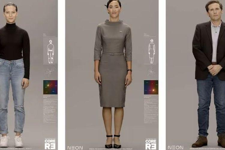Avatar Neon karya Samsung yang dipamerkan dalam CES 2020