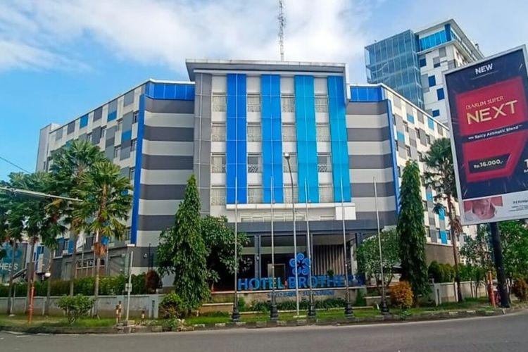 Hotel Brothers di Kawasan Solo Baru, Kabupaten Sukoharjo, Jawa Tengah disita Kejaksaan Agung diduga terkait kasus korupsi PT Asabri, Senin (5/4/2021).